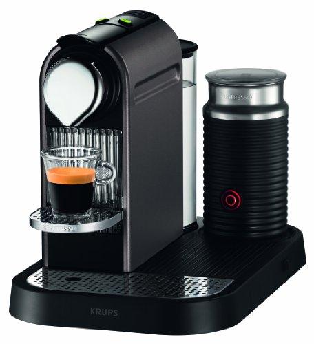 Krups CitiZ Nespresso Titanium + Aeroccino - XN710141