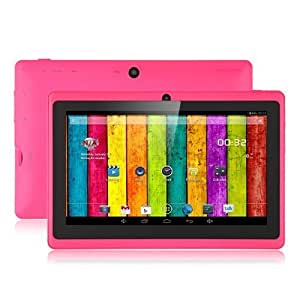 """Aome Tech Pink 7"""" inch Touch Screen Dual core Allwinner A23 1.5GHz CPU Android 4.2.2 Tablet PC Dual camera 4GB HDD 512MB WiFi"""
