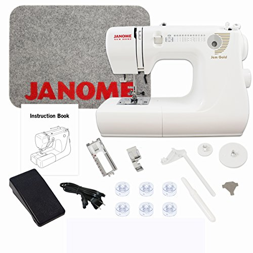 Janome Jem Gold 660 Sewing Machine with Bonus Bundle (Janome Mat compare prices)