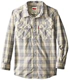 Levis Big Boys Barstow Plaid Western Shirt Twilight Blue
