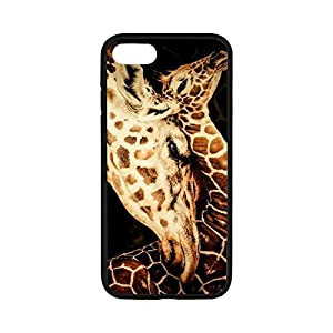 TPU Cellphone Case for IPhone 7,Case for iPhone 7,Giraffe Case Cover For iPhone 7,Cover for iPhone7(4.7 inch),Cute Giraffe Rubber TPU Shell Case Cover Protector For iPhone 7