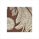 Sure Fit Scroll 1-Piece Loveseat Slipcover Brown