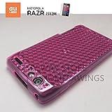 MOTOROLA RAZRエメラルドジェル ケース (au RAZR™ IS12M対応) Emerald Gel TPU Case 【Pink(ピンク)】