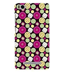 Printvisa Smiley And Square Pattern Back Case Cover for Xiaomi Redmi MI 4C::Xiaomi Mi 4C