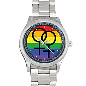Gay Female Pride Flag FILGO160 Stainless Steel Wrist Watches