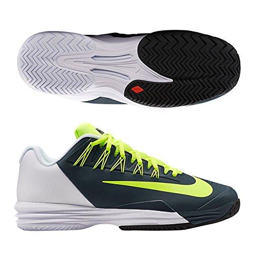 NIKE(ナイキ) テニス シューズ オールコート ルナ バリスティック 1.5 メンズ WHITE/VOLT−CLASSIC CHARCL 705285-170