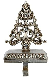 Silver Stocking Holder, TREE, SILVER