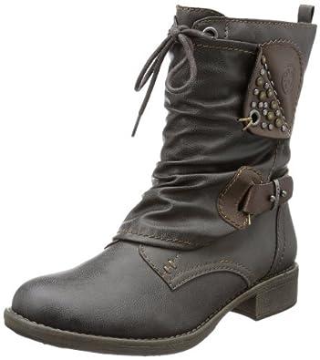 s.Oliver Casual 5-5-25320-21, Damen Biker Boots, Grau (GRAPHITE/CAFE 231), EU 37