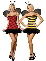 Dreamgirl Women's Buggin Out Reversible Costume, Large