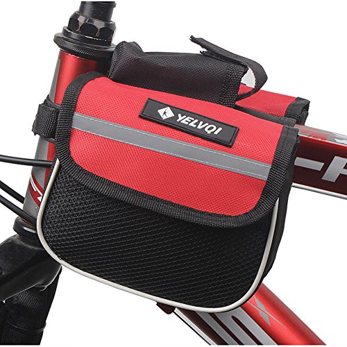 Fahrradsatteltasche Fahrrad Tasche Pfeifenbeutel vor der Tasche mit Handy-Tasche (rot)