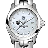 TAG HEUER watch:Penn State TAG Heuer Watch - Women's Link with Mother of Pearl Diamond Dial at M.LaHart