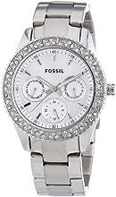 Comprar Fossil ES2860 - Reloj analógico de cuarzo para mujer con correa de acero inoxidable, color plateado