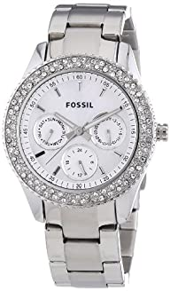 Fossil Ladies Stainless Steel Stone Set Watch