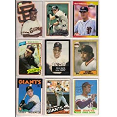 San Francisco Giants Heros of the past (10) Card Baseball Lot (Barry Bonds) (Will... by Topps