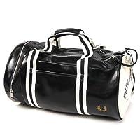 (フレッドペリー)FRED PERRY メンズバレル ボストンバッグ  L1184 / CLASSIC BARREL BAG ブラック [並行輸入商品]