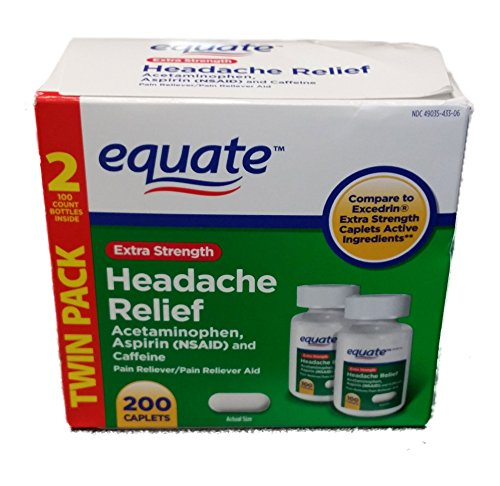 Extra Strength Headache Relief Twin Pack, 200CT,