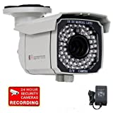 "VideoSecu Outdoor Day Night Vision 700TVL CCTV Infrared Security Camera Built-in 1/3"" SONY Exview CCD II EFFIO-E DSP 65 IR Leds 8-20mm Varifocal Lens 3X Zoom Camera for DVR Home Surveillance System (Power Supply Included) IR549K WB7"