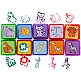 Stamps for Kids - Best Self Inking Animal Stamps Set