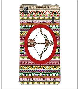 PrintDhaba Zodiac Sagittarius D-5663 Back Case Cover for LENOVO A7000 PLUS (Multi-Coloured)