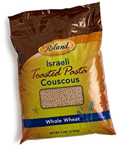 Roland Israeli Couscous, Whole Wheat, 5-Pound Bags (Pack of 2)