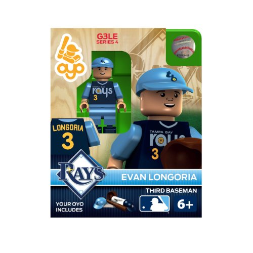 Mlb Tampa Bay Rays Evan Longoria Generation 3 Toy Figure front-694961