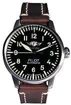 Wrist Watch Pilote, Brown , Wooden Box