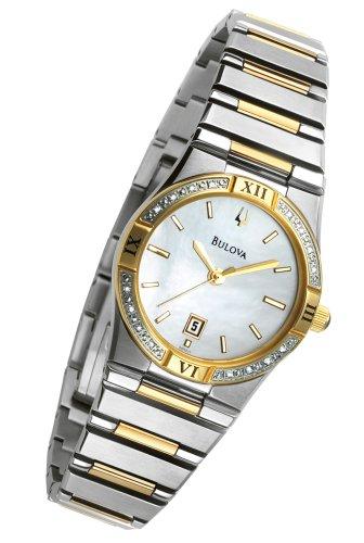 Bulova Women's 98R011 Diamond Case Calendar Watch
