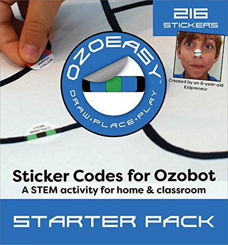 오조봇 코딩용 스티커 - Ozoeasy Sticker Codes (Starter Pack) for use with Ozobot