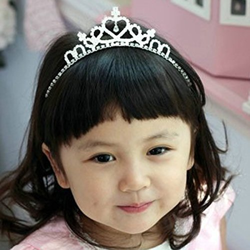 Children Rhinestone Heart Headband Crown Tiara Baby Princess Crown Customized front-172446