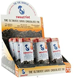 Sweet Riot Cacao Nibs Covered with 70 Percent Dark Chocolate, 1 Ounce -- 12 per case.