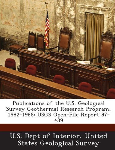 Publications of the U.S. Geological Survey Geothermal Research Program, 1982-1986: Usgs Open-File Report 87-439