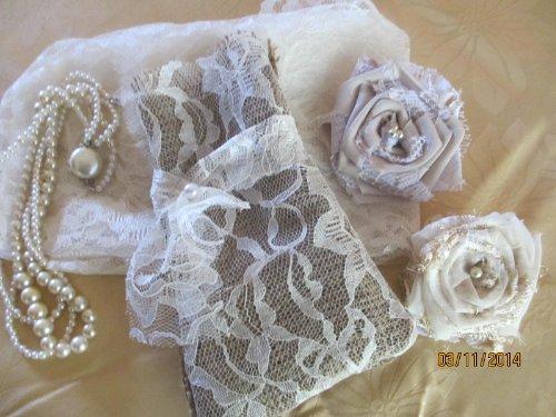 50% Off 5 Burlap And Lace Gift Bags, Mini Burlap Wine Bags,Cream Lace And Burlap, Burlap Wedding Favors, Burlap Shower Favors