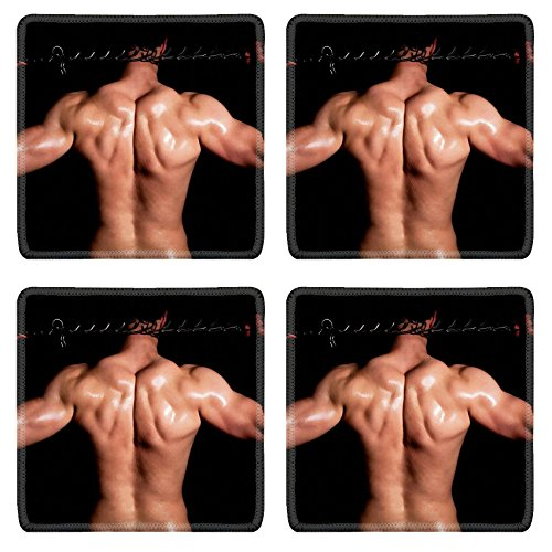 Liili Natural Rubber Square Coasters IMAGE ID: 13156698 Fashionable muscular man in a fashion pose with chain (Macho Man Resin compare prices)