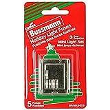 Bussmann BP/MAS-3X5 Christmas Holiday Light Set String Fuse 3 Amp (Pack of 5)