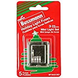 Bussmann BP/MAS-3X5 Christmas Holiday Light Set String Fuse 3 Amp (Pack of 5)