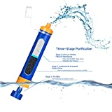 Etekcity Portable 1500L Emergency Camping Water Filter, 3-stage filtration , 0.01 Micron, Survival Kit Supplies