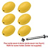 Rotary Provendi Yellow Soap - Refill For Screw Holder (Set Of 6)
