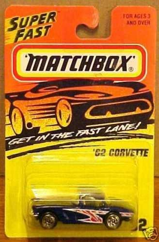 Matchbox '62 Corvette # 32 Dark Blue (1995) - 1