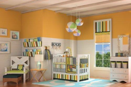 Dk Leigh Crib Bedding Set For Unisex, Beach Surf Baby, 1O Piece
