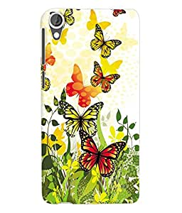 Fuson 3D Printed ButterFly Designer Back Case Cover for HTC Desire 820 - D826
