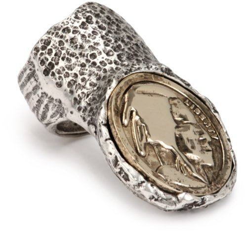Low Luv by Erin Wasson Knuckle Coin Ring, Size 7