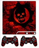 PS3 Slim Skin Gears of War (RED)