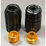 Sato Racing Abrasion Resistant Delrin Frame Sliders for Aprilia 12  Tuono V4 R  A V4RFS BK