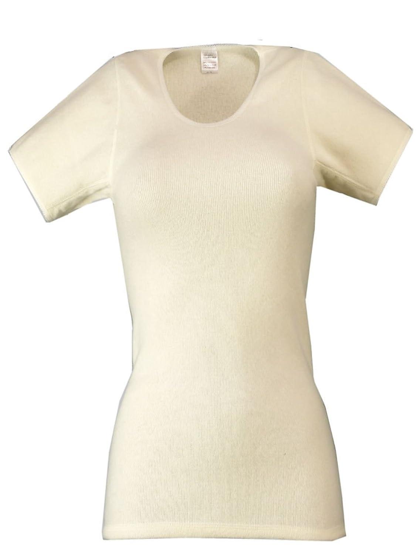wobera Angora Damen-Unterhemd mit ½ Arm mit 50% Angora