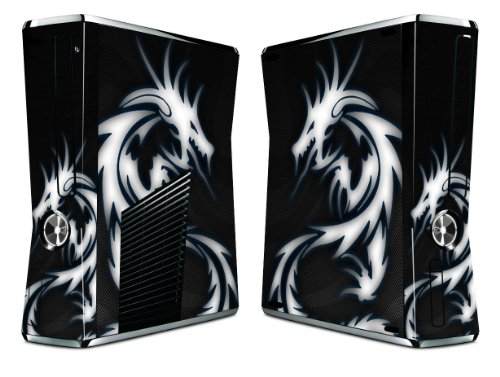 Bundle Monster Vinyl Skin Sticker For Xbox 360 S Slim Game Console - Cover Protector Art Decal - Blue Dragon