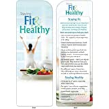 Staying Fit & Healthy Bookmark Trade Show Giveaway