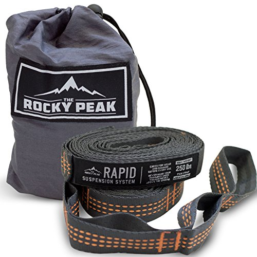 NEW-Hammock-Tree-Straps-2pc-High-Quality-Heavy-Duty-No-Stretch-Suspension-System-Fast-Easy-Setup-Fits-Any-Hammock-by-The-Rocky-Peak