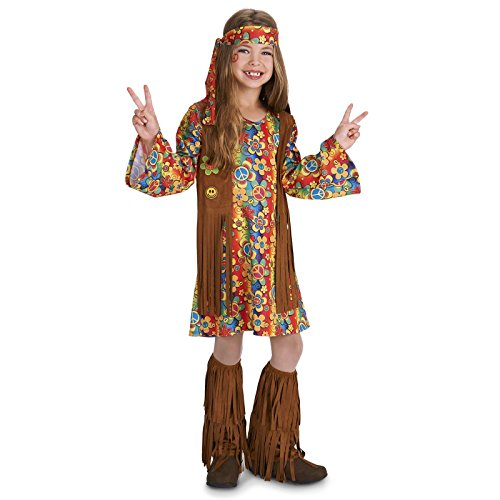 [Fringe 60's Hippie Child Costume XL (16-18)] (Hippie Costumes Kids)