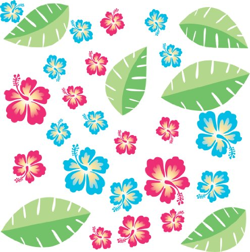RoomMates RMK1260SCS Hawaiian Breeze Peel & Stick Wall Decals