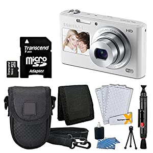 Samsung DV180 16.2MP Smart Wi-Fi Digital Camera + Compact Case + 16GB micro SDHC Card + Table Top Tripod + Cleaning Kit + Cleaning Pen + Deluxe Accessory Kit - International Version (No Warranty)